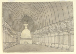 Interior of Karle Temple. 7 January 1868